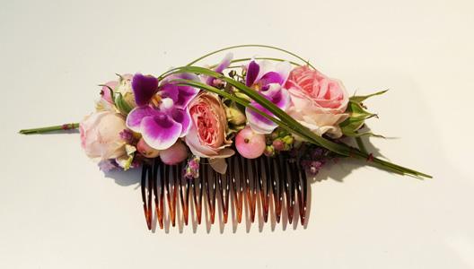 Haarschmuck für eine Hochzeit